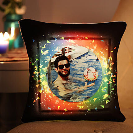 Personalised Colourful LED Cushion: Personalised Cushions