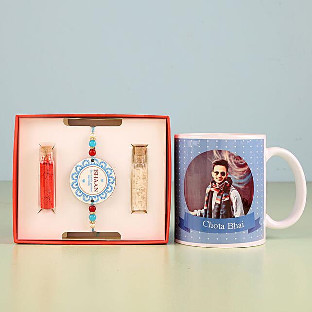 Personalised Combo Of Rakhi And Mug: Send Rakhi with Mugs