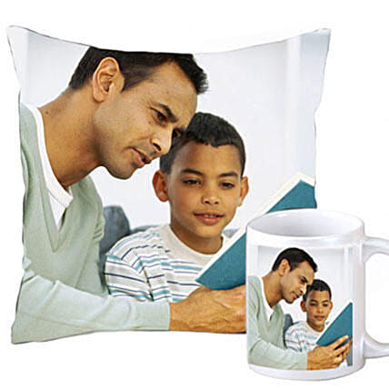 Personalised Cushion & Mug Combo For Dad: Gift Combos For Father's Day