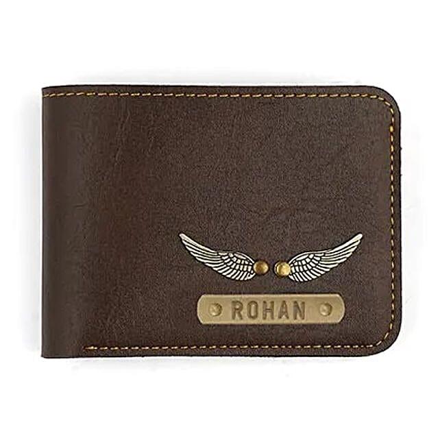 Personalised Dark Brown Mens Wallet: Personalised Accessories