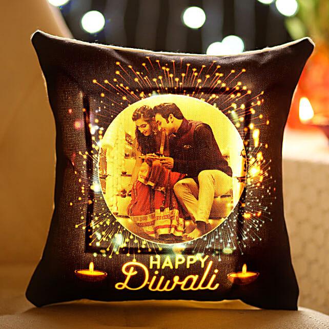 Personalised Diwali Wishes With LED Cushion: Buy Cushions