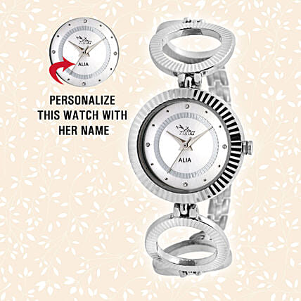 Personalised Enchanting Silver Watch: Personalised Watches