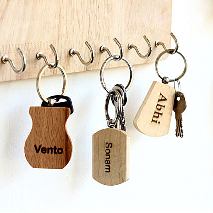 Personalised Engraved Car Key Chains Set of 3: Personalised Keychains