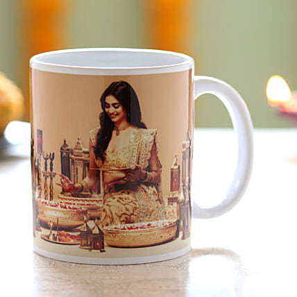 Personalised Festive Mug: Personalized Diwali Gifts