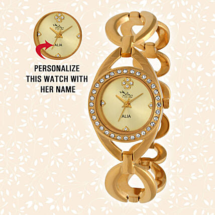 Personalised Graceful Golden Watch: Personalised Watches