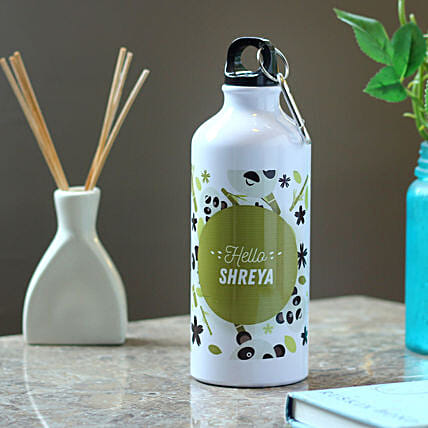 Personalised Hidden Panda Steel Bottle: Send Personalised Message Bottles