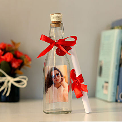 Personalised Image & Message In A Bottle: Personalised gifts for birthday
