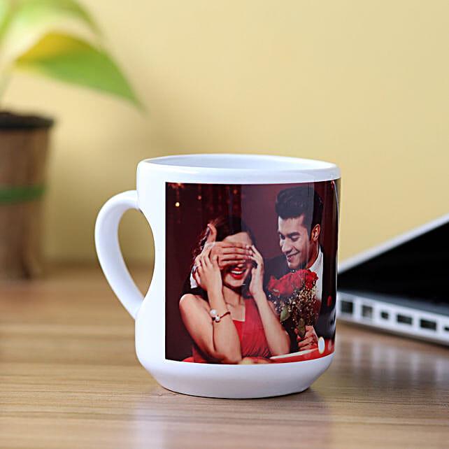 Personalised Inner Heart Shaped Mug: Personalised Mugs