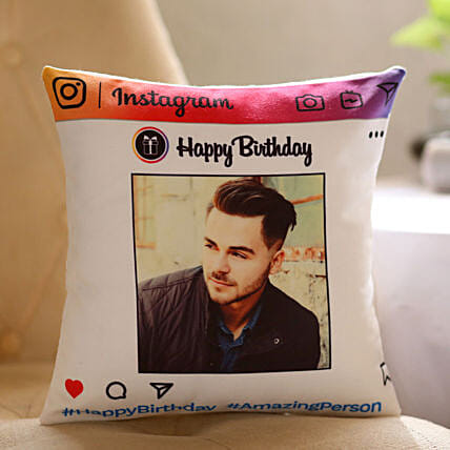 Personalised Instagram Birthday Cushion: Cushions