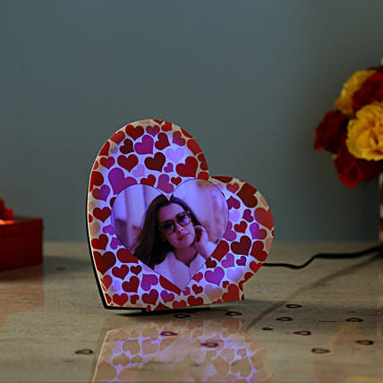 Personalised LED Heart Lamp: Heart Shaped Gifts for Valentine