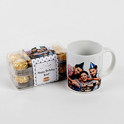 Personalised Mug & Ferrero Rocher Combo Birthday: Personalised Chocolates