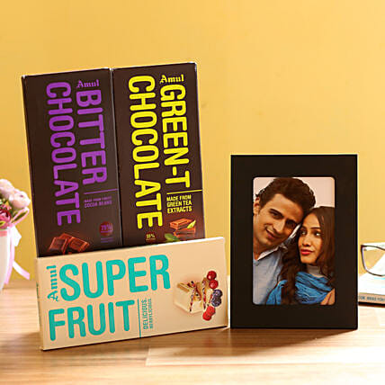 Personalised Photo Frame & Amul Chocolates: Personalised Photo Frames Delhi