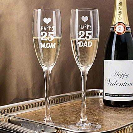 Personalised Set Of 2 Champagne Glasses 2898: