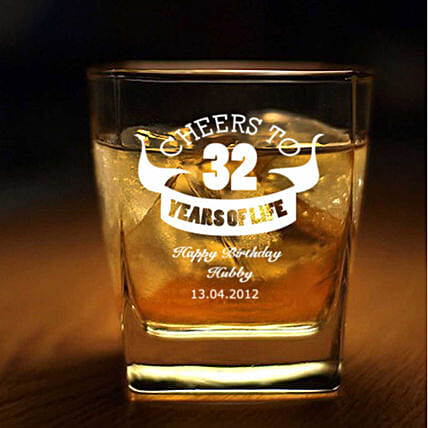 Personalised Set Of 2 Whiskey Glasses 1064: