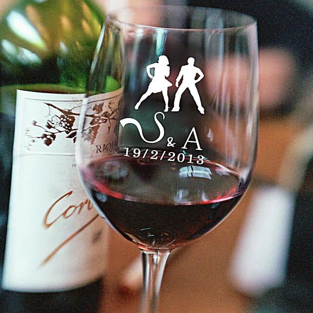 Personalised Set Of 2 Wine Glasses 1015: