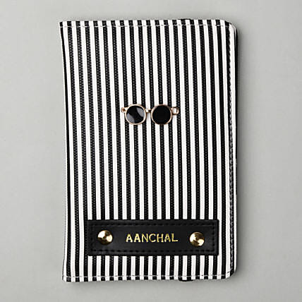 Personalised Striped Passport Cover: Personalised Accessories