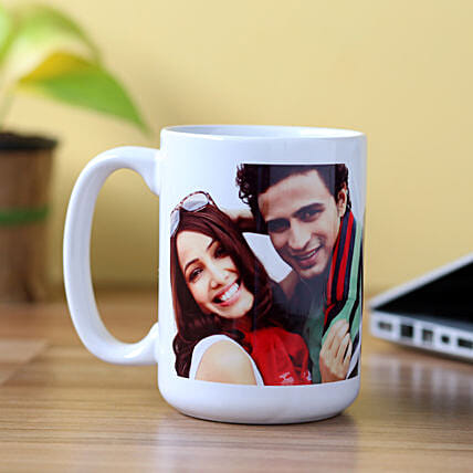Personalised Stunning White Mug: Custom Photo Coffee Mugs