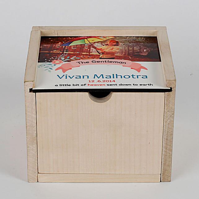 Personalised Wooden Box With Slider Cover & Chocolates: Cadbury Chocolates