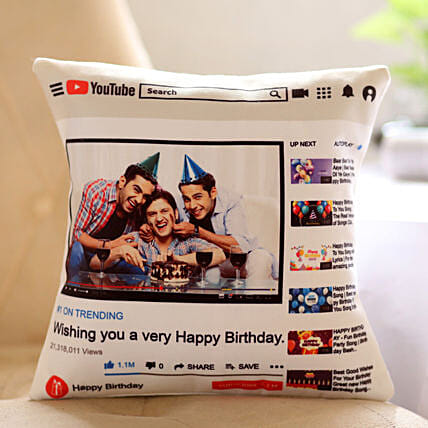 Personalised YouTube Birthday Cushion: Cushions