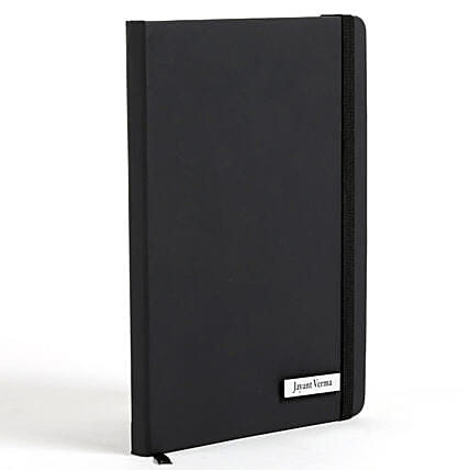Personalized Black Notebook: Personalised Engraved