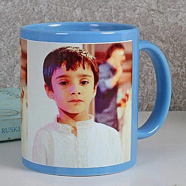 Personalized Blue Ceramic Mug: Personalised Mugs