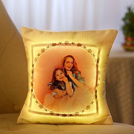 Personalized Cool Yellow LED Cushion: Pune gifts