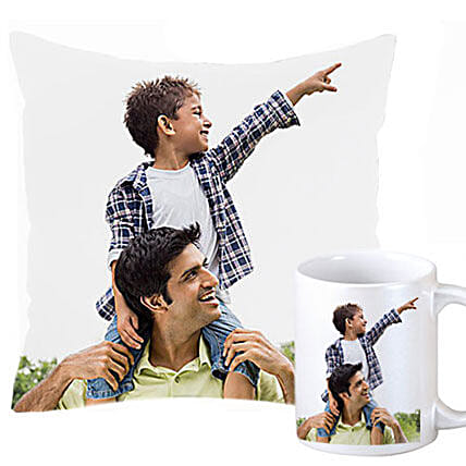 Personalized Cushion and Mug For Dad: Home Decor for Birthday