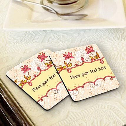 Personalized Floral Coasters: Coasters