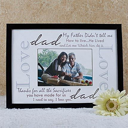 Personalized Frame For Dad: Fathers Day Personalised Photo Frames