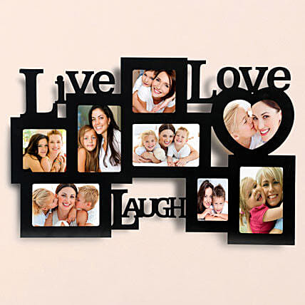 Personalized Live Love Laugh Frames: Home Decor Anniversary Gifts