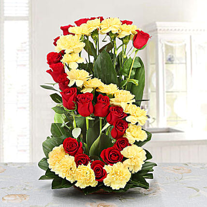 Personalised Floral Arrangement: Carnations