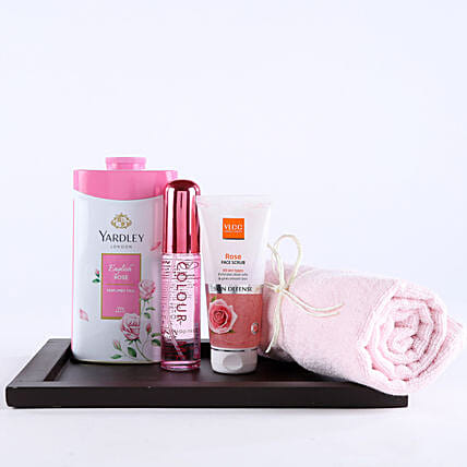 Pink Essentials For Girl Hamper: 16th Birthday Gifts