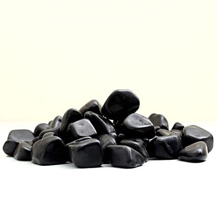 Polished Black Pebbles 20 To 30 mm: