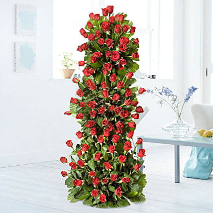 Premium 100 Red Roses Arrangement: