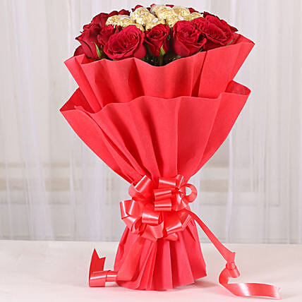 Premium Rocher Bouquet: Chocolate Bouquet