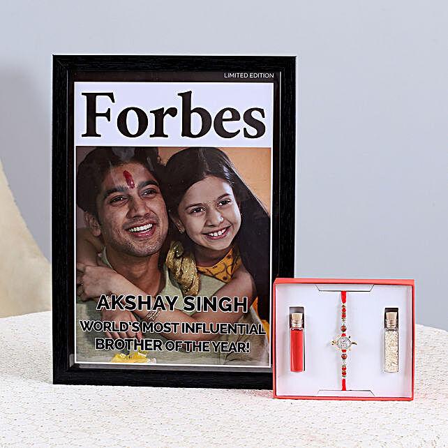 Rakhi & Personalised Frame Combo: Send Rakhi With Photo Frames