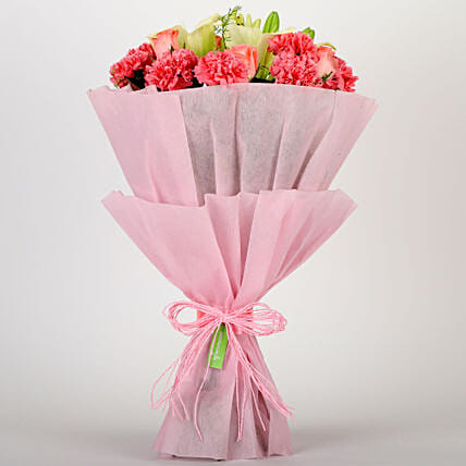 Ravishing Mixed Flowers Bouquet: Good Luck Gifts