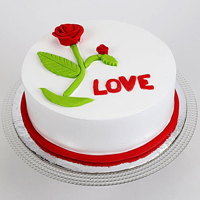 Red Rose Love Cake: Designer Cakes