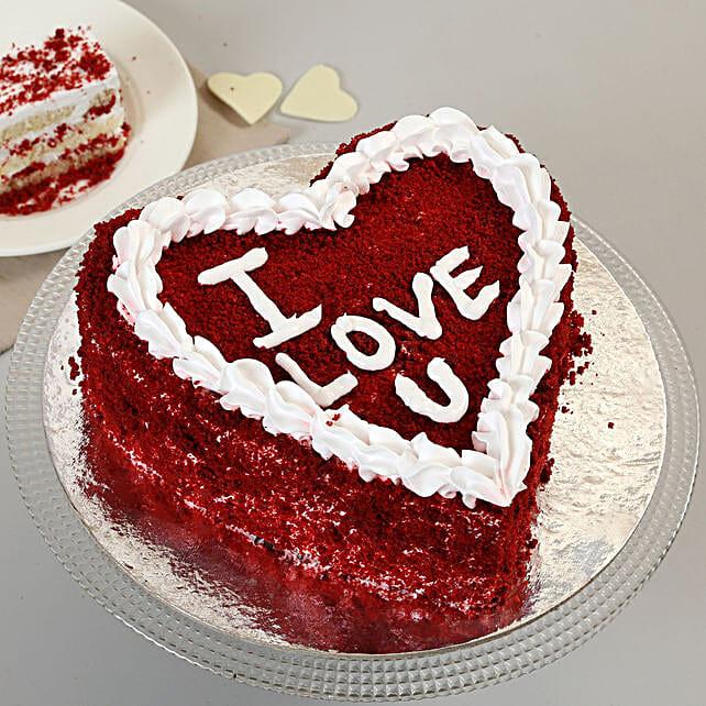 Red Velvet Love Cake: Send Red Velvet Cakes to Indore