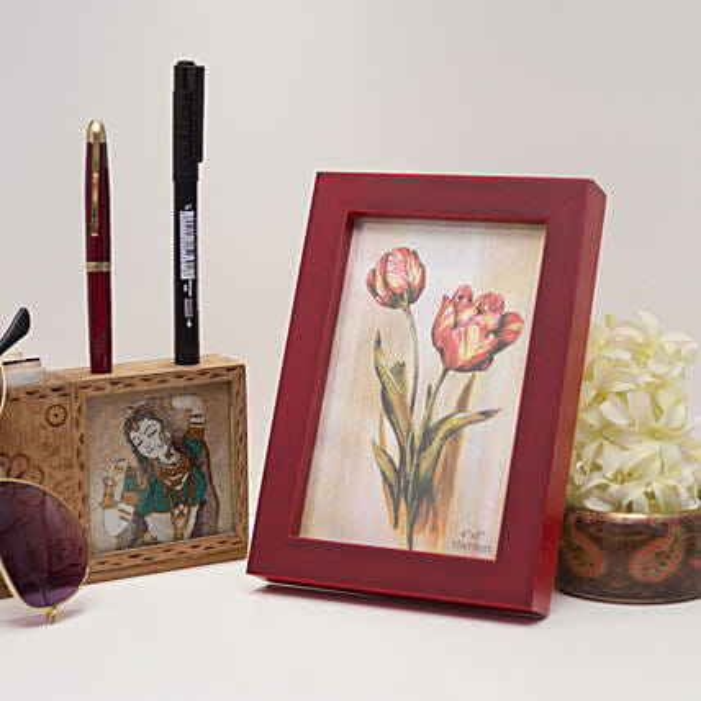 Red Wooden Photo Frame: Birthday Photo Frames