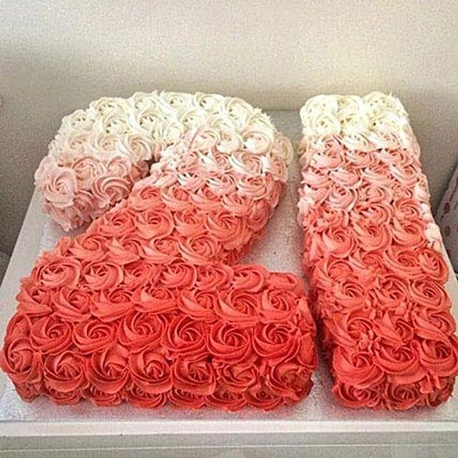 Rose Cream Cake: