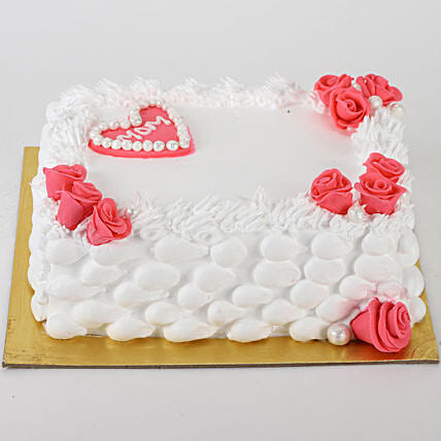 Roses & Heart Cake: Send Designer Cakes