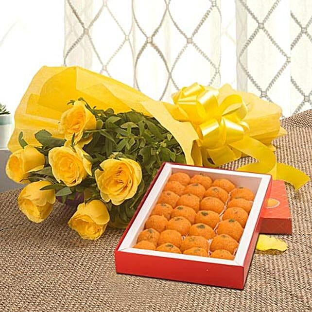 Roses N Ladoo: Flower N Sweets