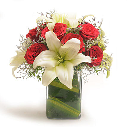Roses N Lilies: Flowers for Husband