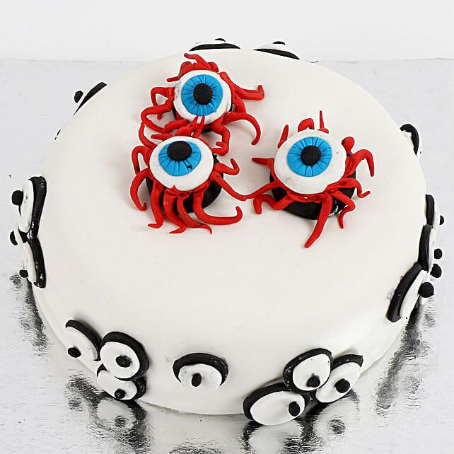 Scary Eyeballs Cake: Designer Cakes