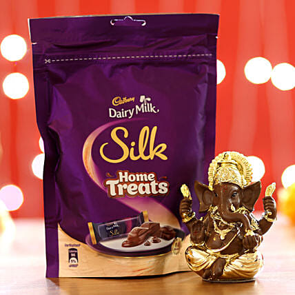 Silk Home Treats & Lord Ganesha Idol: