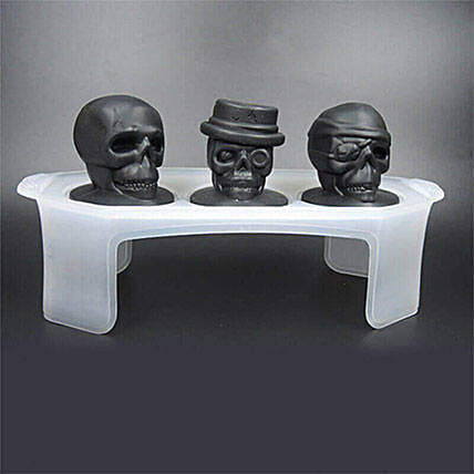 Skull Ice Mould Set Of 3: