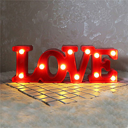 Small 3D Hanging Romantic Love Letters Night Light: Funny Gifts