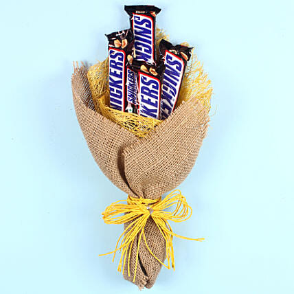 Snickers Chocolate Bouquet: Hug Day Gifts