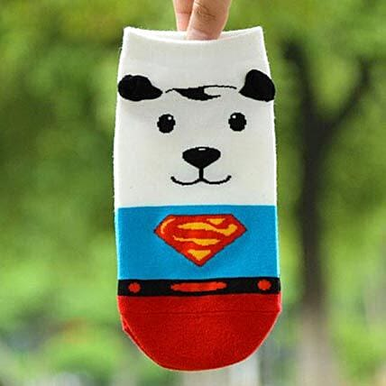 Snoopy Superman Ankle Length Socks: Funny Gifts